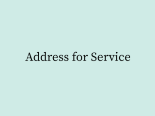 Address for Service