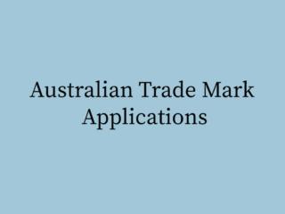 Australian Trade Mark Applications